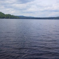 Photo taken at Wicwas Lake by Patrick L. on 7/28/2013