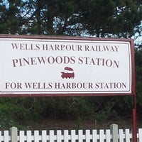 Photo taken at Wells Harbour Railway - Pinewoods Station by Debby E. on 8/30/2013