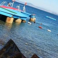 Photo taken at Alkoru Beach by Destina H. on 6/26/2014