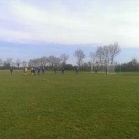 Photo taken at Stade de Cravant les Coteaux by Thomas B. on 2/23/2014