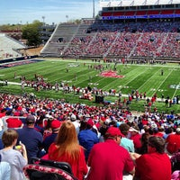 Photo taken at Vaught-Hemingway Stadium by Jacob B. on 4/13/2013