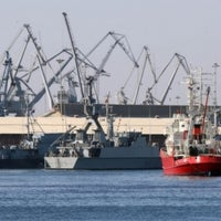 Photo taken at Thessaloniki Port by John P. on 7/11/2013
