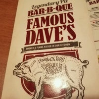Photo taken at Famous Dave's by Chris D. on 5/7/2017
