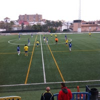 Photo taken at Campo Fútbol Tomares Cf by Inma J. on 3/2/2013