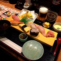 Photo taken at えび自慢  すし名人 by Makashikun on 8/29/2015