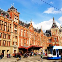 Photo taken at Amsterdam Central Railway Station by Russ L. on 4/13/2013
