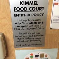 Photo taken at Kimmel Food Court by Ryan S. on 1/25/2015