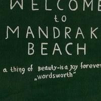 Photo taken at Mandraki beach by Billie-Jo W. on 9/1/2013