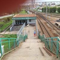 Photo taken at Ж/Д станция Фили by Женя Н. on 7/9/2013