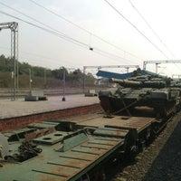 Photo taken at Balharshah Railway Station by Keshav M. on 12/27/2013