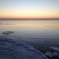 Photo taken at Clark Street Beach by Per J. on 1/16/2013