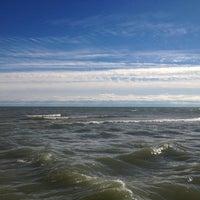 Photo taken at Clark Street Beach by Per J. on 10/26/2012