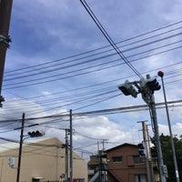 Photo taken at 青山学院大学入口交差点 by Haruhiko E. on 10/8/2017