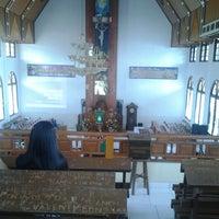 Photo taken at GMIM Imanuel Sendangan by nay N. on 9/15/2013