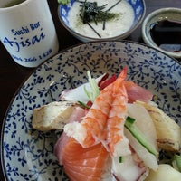 Photo taken at Ajisai Sushi Bar by Sum L. on 4/11/2013