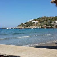 Photo taken at Kini Beach by Αγγελική Γ. on 7/16/2013