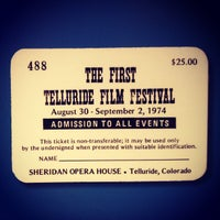Photo taken at Sheridan Opera House by Telluride Film Fest on 8/30/2013