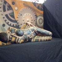 Photo taken at Craig Tracy's PaintedAlive Body Painting Gallery by Ami J. on 8/11/2013