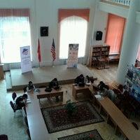 Photo taken at America Borboru (American Corner Bishkek) 2nd floor of the Bayalinov Library by Cholpon B. on 4/12/2014