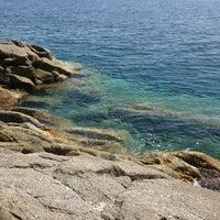 Photo taken at Spiaggia Seccheto by Lella E. on 8/5/2013