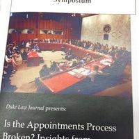 Photo taken at Duke University School of Law by Andrew W. on 2/6/2015