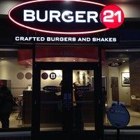 Photo taken at Burger 21 by Jason W. on 3/2/2014