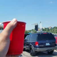 Photo taken at Right Field gate at Kauffman Stadium by Aaron H. on 8/15/2015
