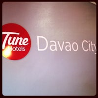 Photo taken at Tune Hotels Davao by Janey P. on 3/8/2014
