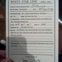 Photo taken at Titanic: 100th Anniversary Exhibit by Kay on 9/30/2012
