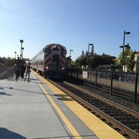Photo taken at California Ave Caltrain Station by Christina C. on 7/18/2013