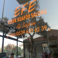 Photo taken at efe erkek kuaförü by Zeki I. on 7/12/2013