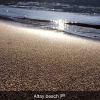 Photo taken at Altay's beach by Kaan A. on 10/30/2016