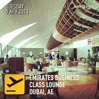 Photo taken at Emirates Business Class Lounge by Genesis M. on 4/9/2013