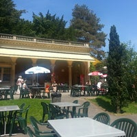 Photo taken at buvette du parc des eaux-vives by Sabrina B. on 6/7/2013