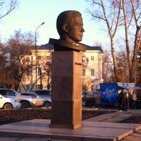 Photo taken at Памятник Ю.А. Гагарину by Настя Ю. on 3/26/2014