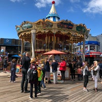 Photo taken at The Carousel at Pier 39 by Taylan Ö. on 8/29/2018