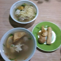 Photo taken at Bakso Bakwan Malang (BBM) OKE by Mia Kharisma S. on 12/2/2013