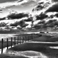 Photo taken at St. Peter-Ording Strand by Carsten B. on 11/22/2015