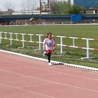 Photo taken at Naili Moran Kapalı Atletizm Sahası by TC Arda C. on 4/20/2014