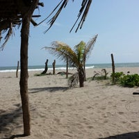 Photo taken at Palapa Las Chalupitas , Barra Vieja by Marco A. on 8/10/2013