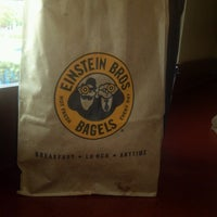 Photo taken at Einstein Bros Bagels by Siren S. on 7/22/2013