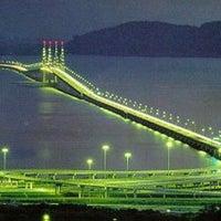 Photo taken at Penang Bridge by νєgα'ѕ Ł. on 7/16/2013