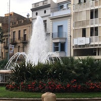 Photo taken at Plaça de la Font Lluminosa by Bryan F. on 10/3/2016