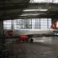 Photo taken at Czech Airlines Technics - Hangár F by LukaSH on 6/21/2014