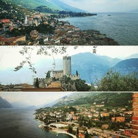 Photo taken at Beach Malcesine by Maurizio T. on 5/10/2017