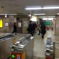Photo taken at Midosuji Line Yodoyabashi Station (M17) by ぎゅ↪︎ん 🐾 ⁑. on 12/14/2012
