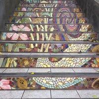 Photo taken at Hidden Garden Mosaic Steps by Adley on 9/20/2017