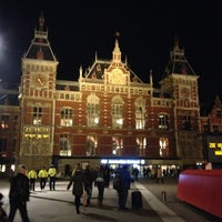 Photo taken at Amsterdam Central Railway Station by Melissa K. on 10/18/2013