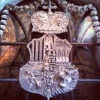 Photo taken at Sedlec Ossuary by Rolf B. on 10/1/2012