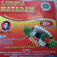 Photo taken at Lunpia Mataram by Ajeng P. on 8/12/2013